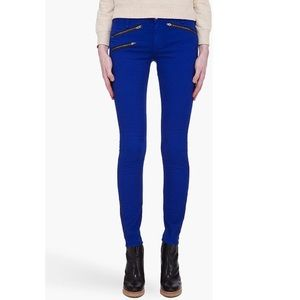 Rag & Bone Blue Moto Pants